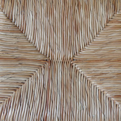 straw chair closeup, natural background
