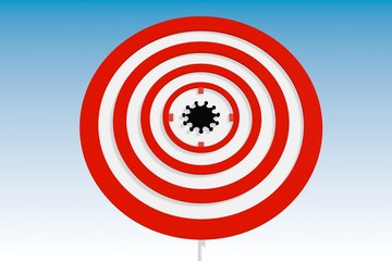 virus epidemia relative background with target