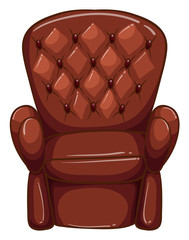 A simple coloured drawing of a brown furniture
