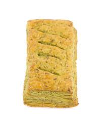 Green tea pie