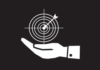 Hand and Target icon concept