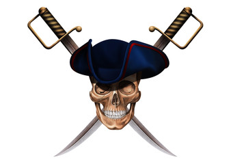the skull with swords