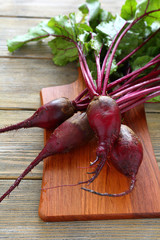 Fresh red beetroot roots