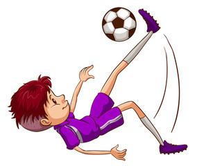 An energetic soccer player