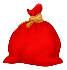 Vector Santa Claus full sack.
