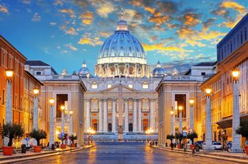 St. Peter's Basilica in Rome by the Via della Conciliazione, Ro