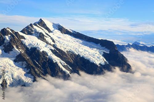Keuken foto achterwand Nieuw Zeeland Mount cook with sea of mist