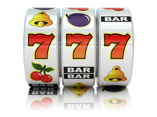Casino. Slot machine with jackpot.