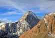 aerial view of Aoraki mount cook mountain alpine alps range in N