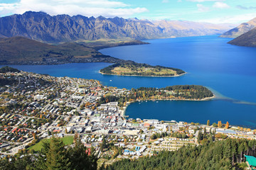 Queenstown cityscape from top