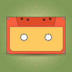 Audio cassette retro design