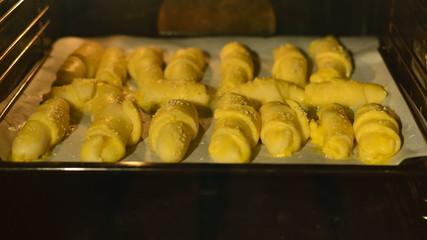 croissant baking