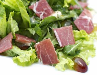 Salad with ham