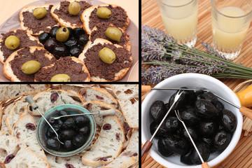 Apéritif Provençal : Pastis  Olives  Tapenade