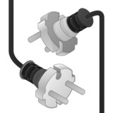 disconnect plug ending isometric view poster