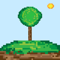 Pixel art tree