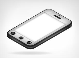 chrome smart phone isometric view