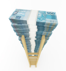 Brazilian real stack with ladder