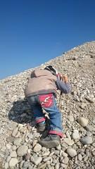 Kind bergsteiger