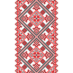 Embroidery. Ukrainian national ornament