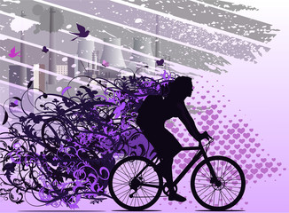walk by bicycle