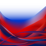Fototapety Colorful waves isolated abstract background red and blue white