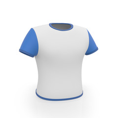 3d illustration. Men's Sport T-shirt