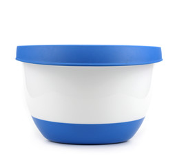 plastic wash bowl on a white background