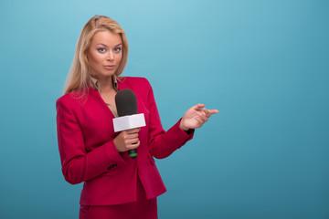 Very beautiful TV presenter