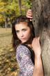 sensual girl in autumn park