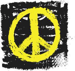doodle peace sign