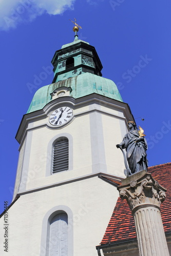 canvas print picture Stadtkirche in Ruhland