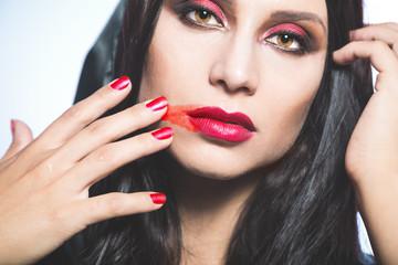 Vampire. Helloween portrait.