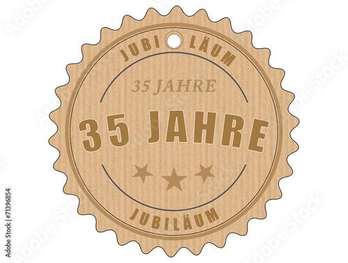 Foto op Plexiglas Retro je35 JubiläumsEtikett 35 - vintagedesign - 35 Jahre - g1935