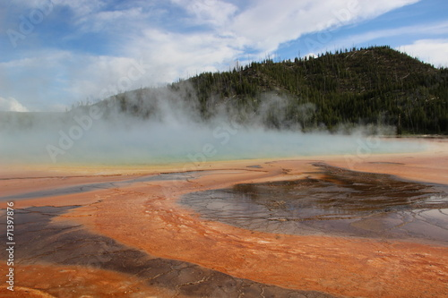 canvas print picture Farbstraße im Yellowstone Nationalpark