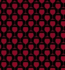 Red wine glass pattern on black
