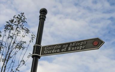 Garden of Europe Sign, Ireland