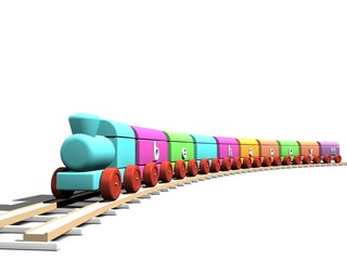 Be happy train toy in different colours
