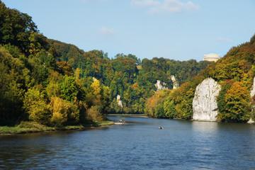 Donaudurchbruch mit Befreiungshalle
