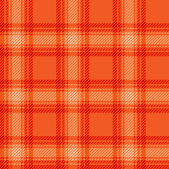 Seamless orange fabric tartan.