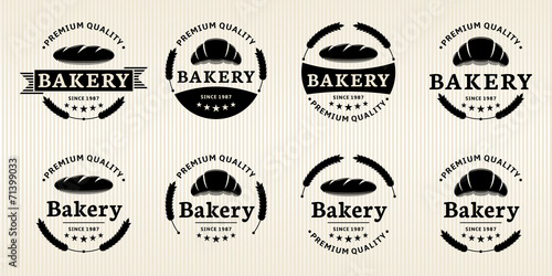Vector Bakery Labels - 71399033
