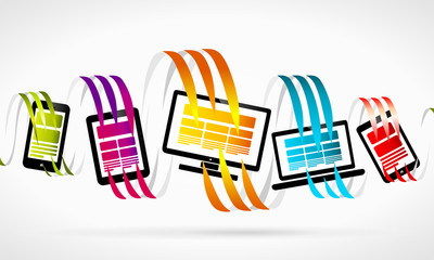 Technology abstract illustration