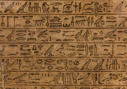 Poster Egypte Hieroglyph