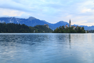 Amazing castle Bled lake in Slovenia, Europe