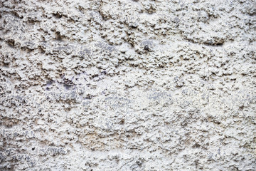 Whitewashed wall with rich and various texture