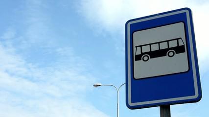 bus stop - sign&symbol - lamp - blue sky
