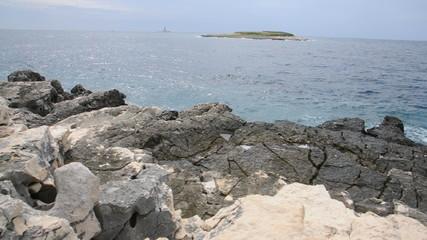 Küste am Kap Kameniak, Istrien