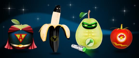 Superhelden Früchte