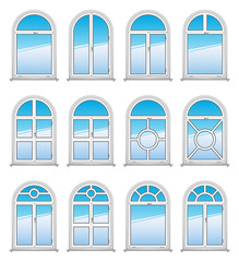 Set of Vector Rounded Windows