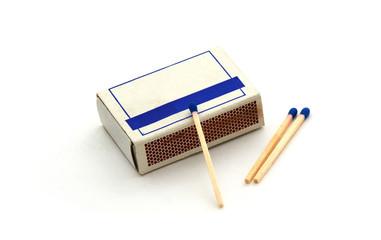 Streichholzschachtel mit 3 Streichhölzern